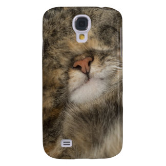 House cat covering eyes while sleeping samsung galaxy s4 case