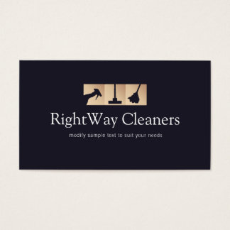 House Cleaner Gold Cleaning Service Logo