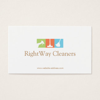 House Cleaner Logo Cleaning Service Business Card