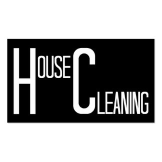 House Cleaning Black and White Pack Of Standard Business Cards