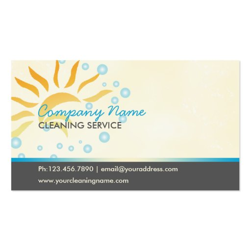 house cleaning business business cards