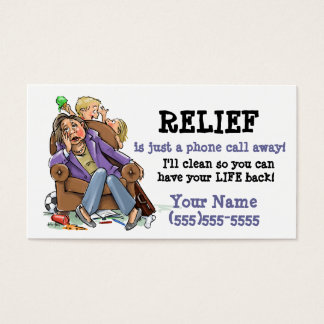 House cleaning business card_2