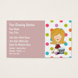 House Cleaning Business Cards