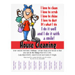 House Cleaning Custom Promotional Flyer Design