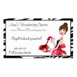 House Cleaning Diva / Dark Hair Business Cards