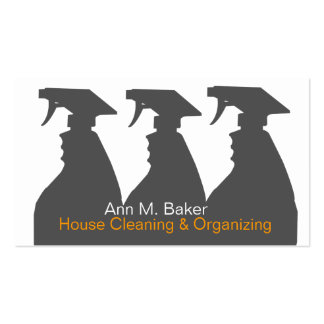 House Cleaning Organizing Services Pack Of Standard Business Cards