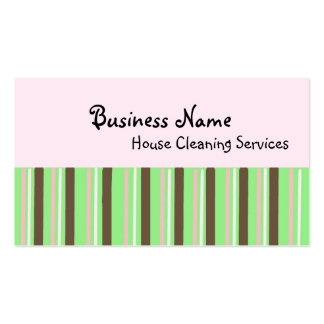 House Cleaning Services Pack Of Standard Business Cards