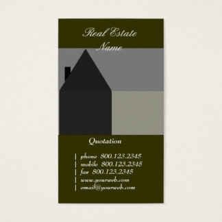 House Construction  Black & Gray Business Card