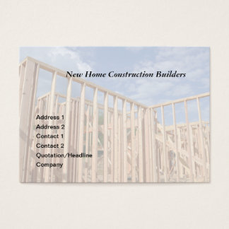 house construction business card