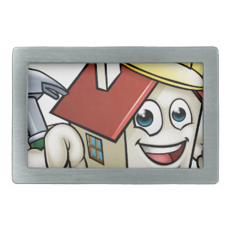 House Construction Mascot Cartoon Character Belt Buckles