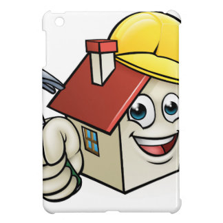 House Construction Mascot Cartoon Character Cover For The iPad Mini