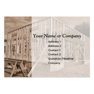 house construction pack of chubby business cards