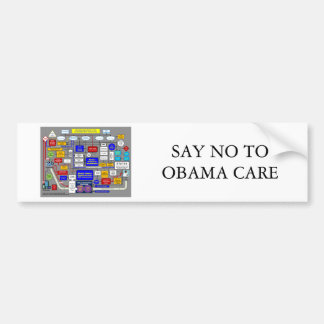 House-Democrats-Health-Plan, SAY NO TO OBAMA CARE Bumper Sticker