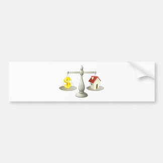 House dollar scales concept bumper stickers