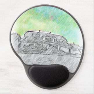 House drawing gel mouse pad
