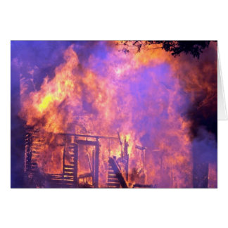 House fire in wind, Alabama Greeting Cards