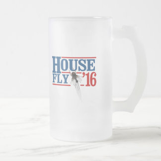 HOUSE FLY 2016 -- Presidential Election 2016 - Frosted Glass Beer Mug