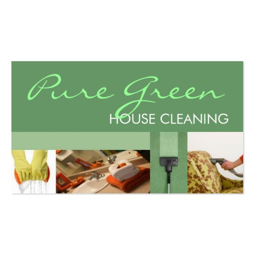 House home cleaning housekeeping service business card for Residential cleaning business cards