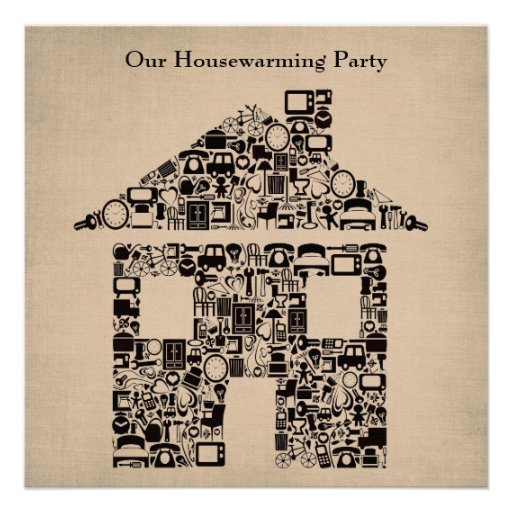 House Home Housewarming Moving Party Invitation