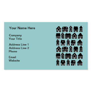 House Icons Real Estate Agent Business Cards