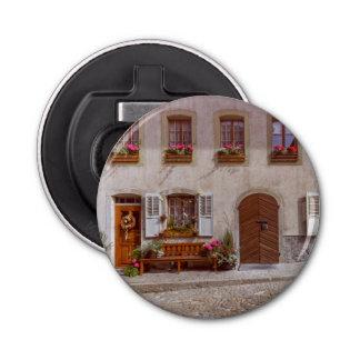 House in Gruyere village, Switzerland Bottle Opener
