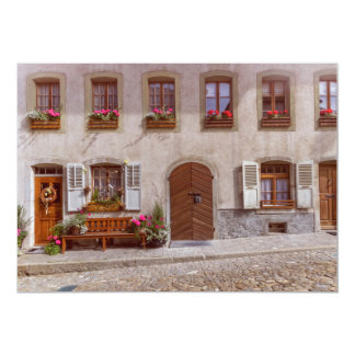 House in Gruyere village, Switzerland Card