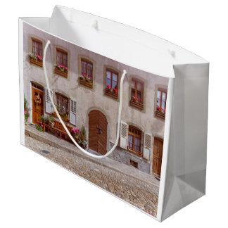 House in Gruyere village, Switzerland Large Gift Bag