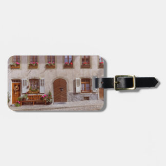 House in Gruyere village, Switzerland Luggage Tag