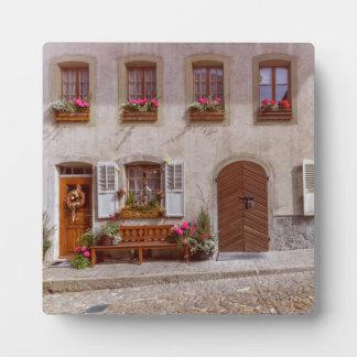 House in Gruyere village, Switzerland Plaque