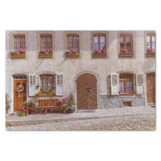 House in Gruyere village, Switzerland Tissue Paper