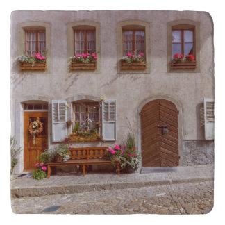 House in Gruyere village, Switzerland Trivet