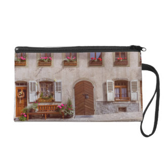 House in Gruyere village, Switzerland Wristlet Purse