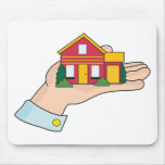 House in Hand Mousemat