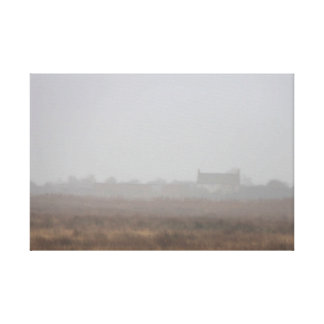 House in the mist canvas print