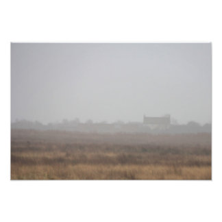 House in the mist photo print