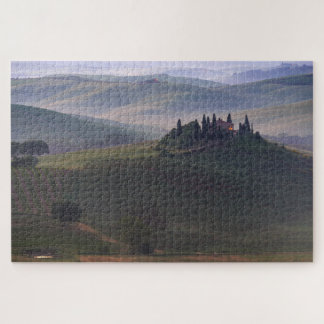 House in Tuscany in the morning fog jigsaw puzzle