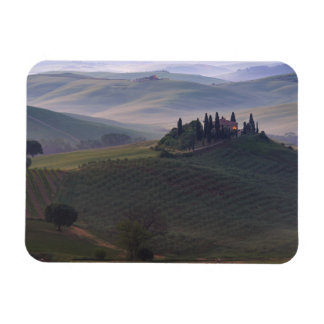 House in Tuscany in the morning rectangle magnet