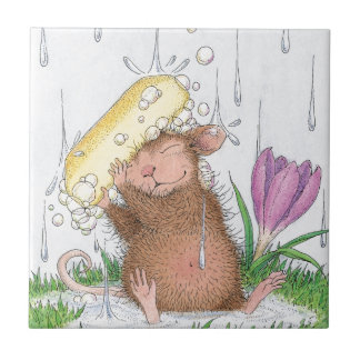 House-Mouse Designs® -  Good Clean Fun Small Square Tile