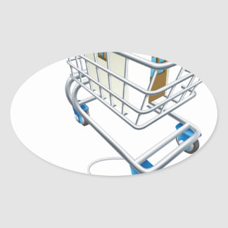 House mouse trolley concept oval sticker