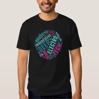 house music genres t-shirt colour round design