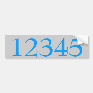 House Numbers Sticker edit text Bumper Stickers
