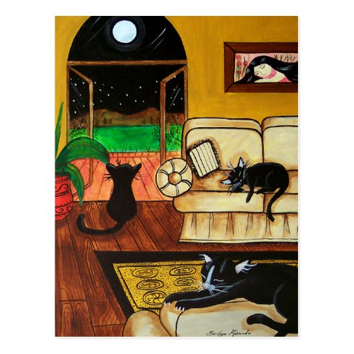 House of Cats Full Moon Postcards