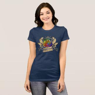 House of Dragicorns Crest gold rainbow leaves T-Shirt