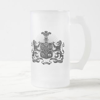 House of Falmouth Crest Frosted Glass Mug