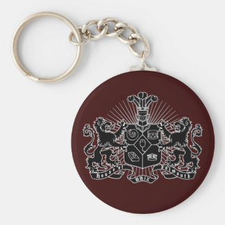 House of Falmouth Crest Basic Round Button Key Ring