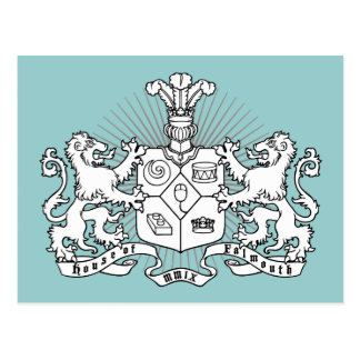 House of Falmouth Crest Postcard