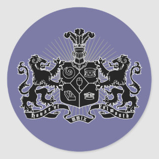 House of Falmouth Crest Round Sticker