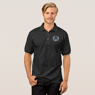 House of Hammerheads Crest silver gray blue Design Polo Shirt