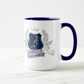 House of Hammerheads Crest silver gray blue Mug