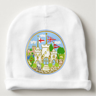 House of Hereford Blue Castle Baby Beanie